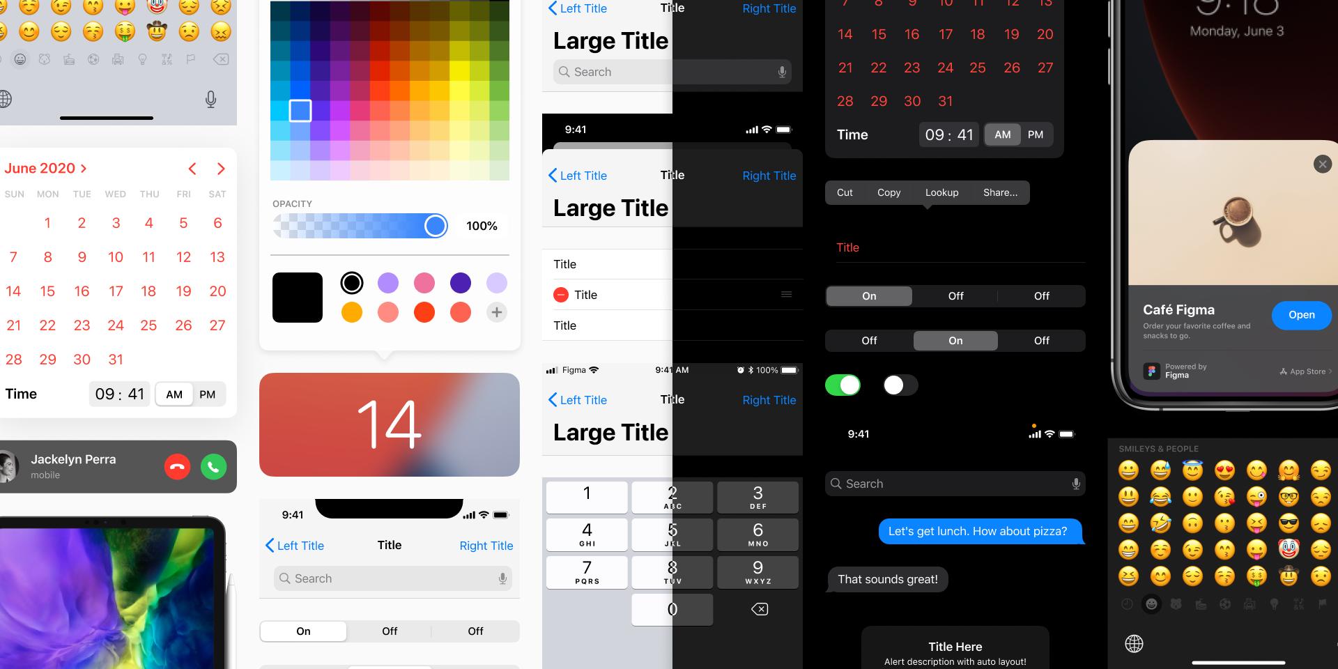 iOS & iPadOS 14 UI Kit