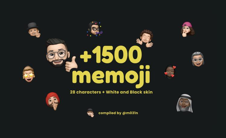 Memoji Icons Pack (1500+)