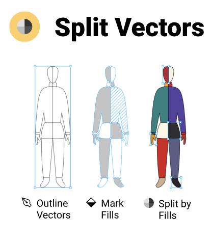 Split Vectors