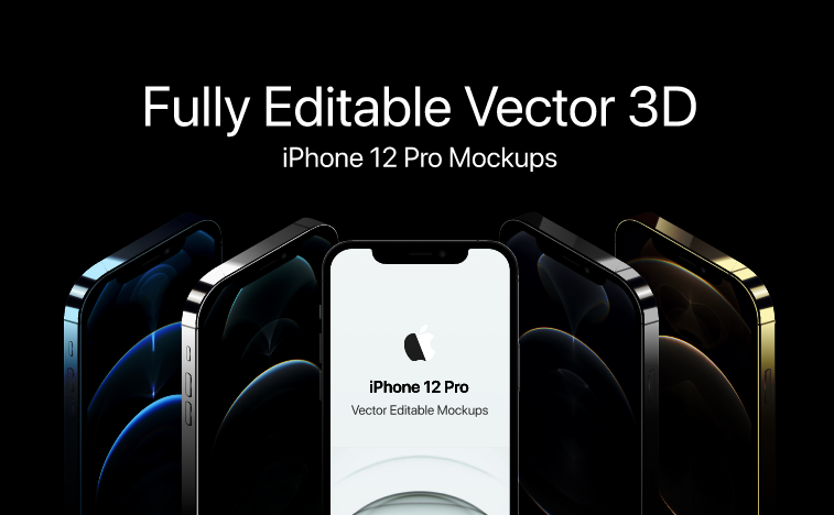 iPhone 12 Pro 3D Mockup