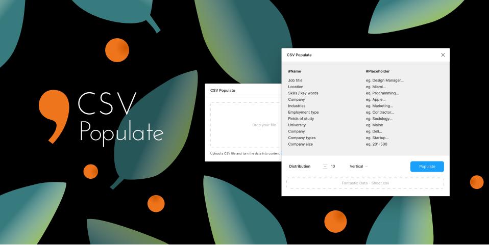 Плагин CSV Populate для Figma