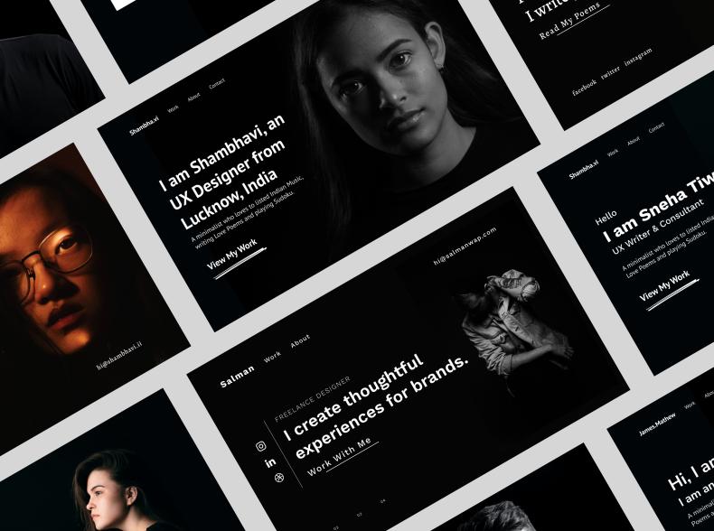 Шаблон сайта портфолио для Figma