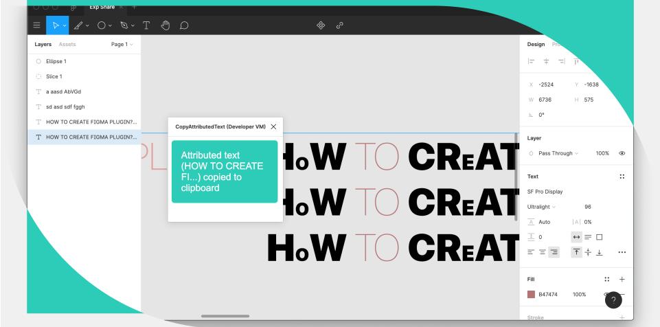 Плагин Attributed Text Copy Helper для Figma