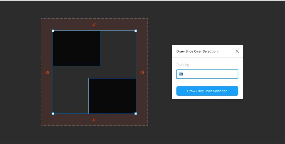 Плагин Draw Slice Over Selection для Figma
