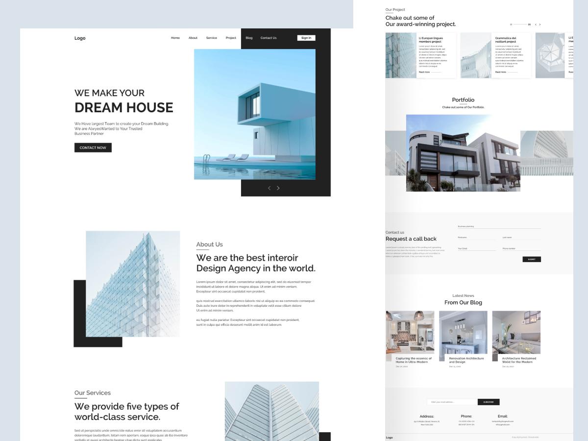 Шаблон Dream House Landing Page для Figma