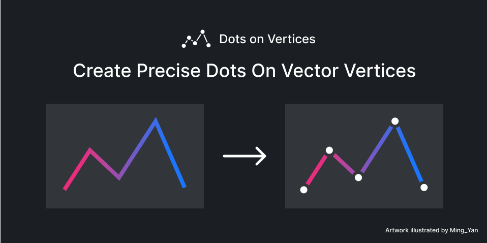 Плагин Dots on Vertices для Figma