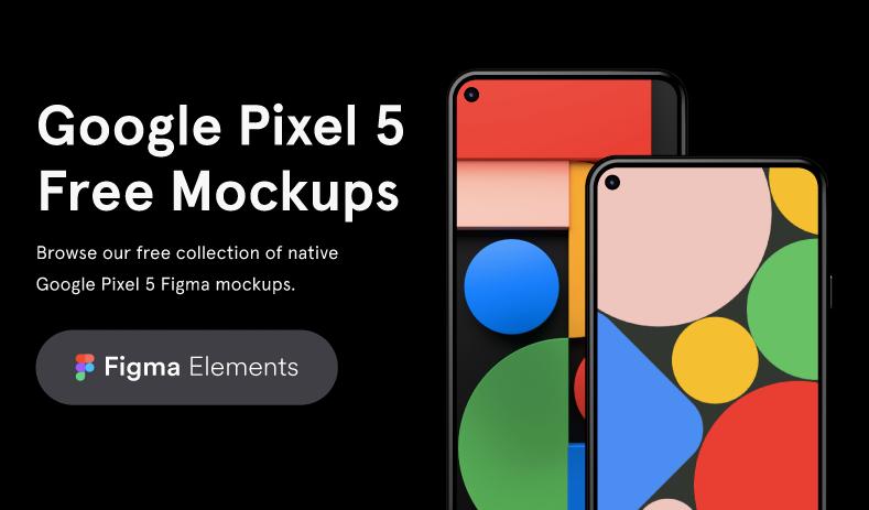 Mockups Google Pixel 5