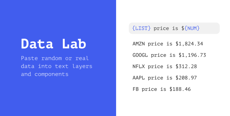 Плагин Data Lab для Figma