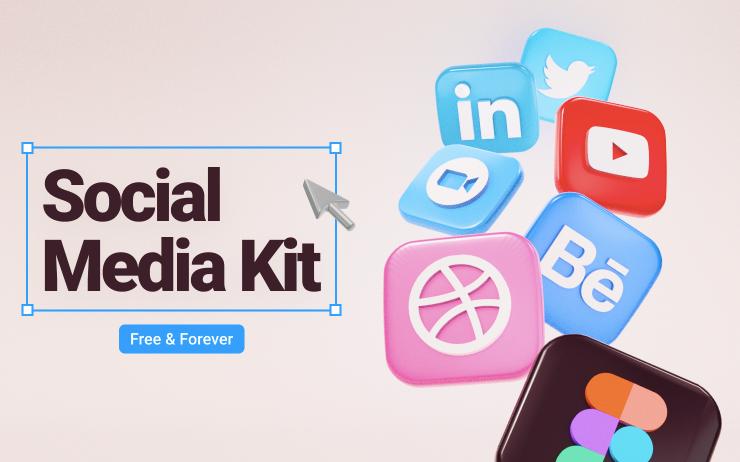 Шаблон Social Media Kit для Figma