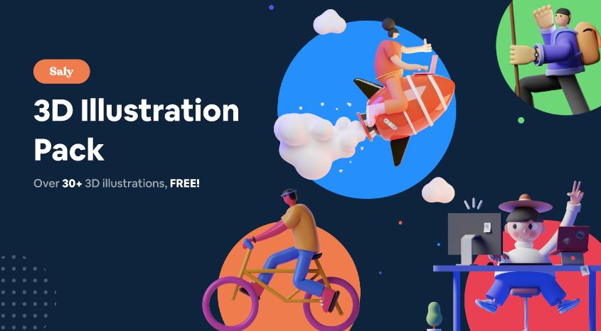 SALY - 3D Illustration Pack