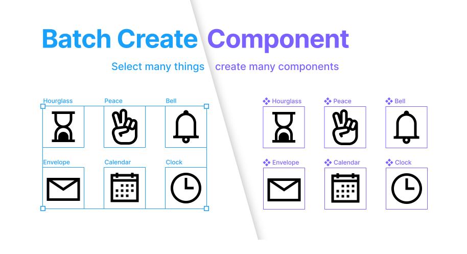 Плагин Batch Create Component для Figma