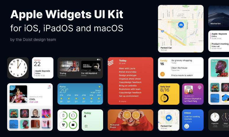 UI Kit Apple Widgets iOS 14