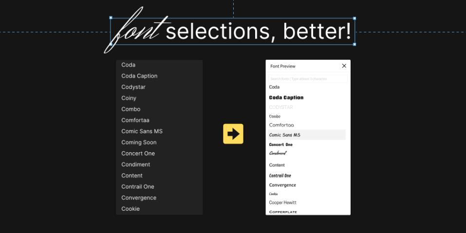 Плагин Better Font Picker для Figma