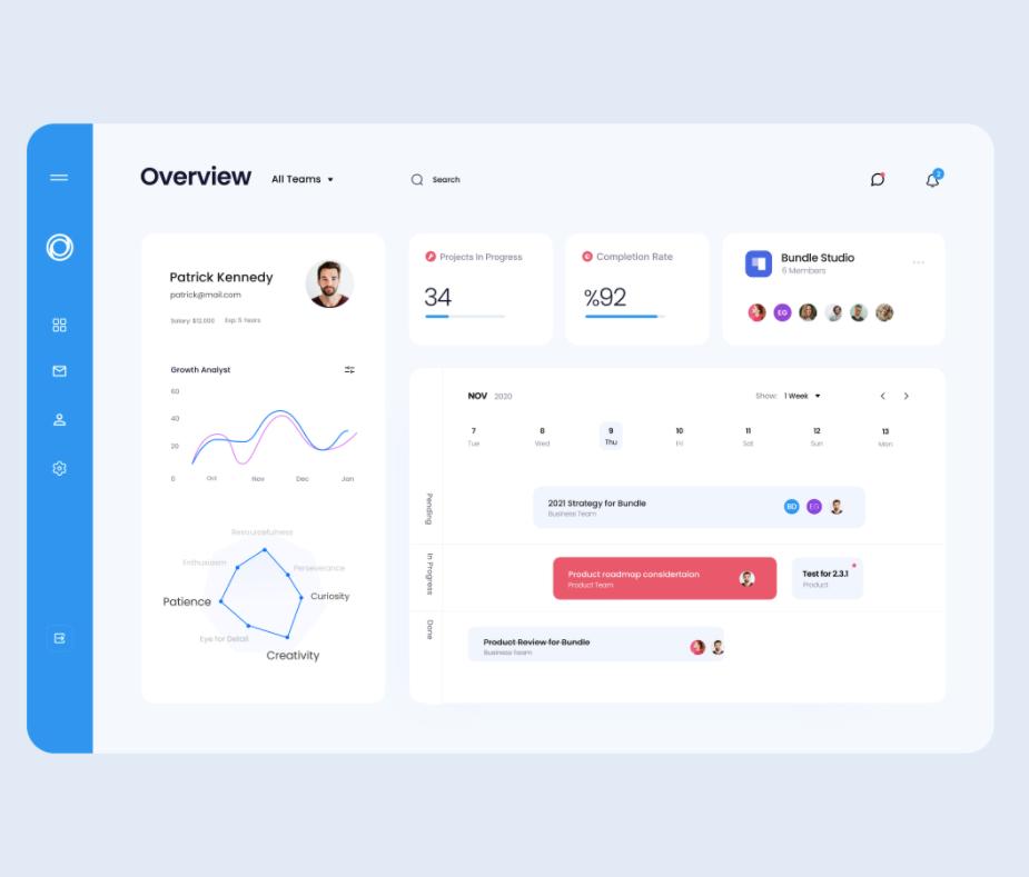 Employee Management System - Web App Design