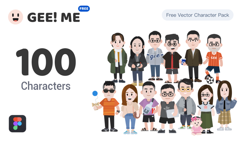 GEE! ME 100 Characters Pack