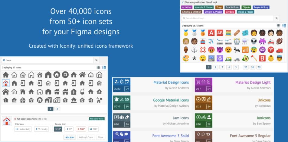 Плагин Iconify для Figma