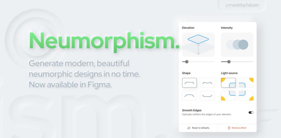 Плагин Neumorphism для Figma