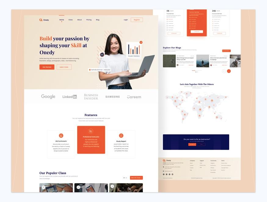Шаблон Landing Page онлайн-курсов