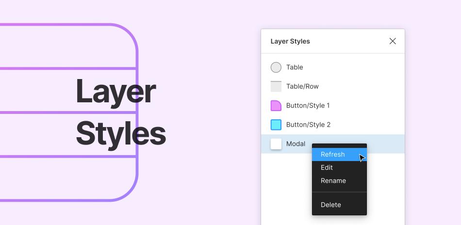 Плагин Layer Styles для Figma