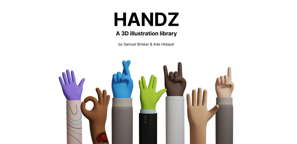 Плагин Handz 3D Illustration для Figma