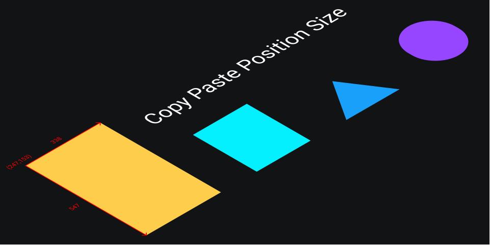 Плагин Copy paste position size для Figma