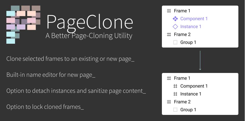 Плагин PageClone для Figma