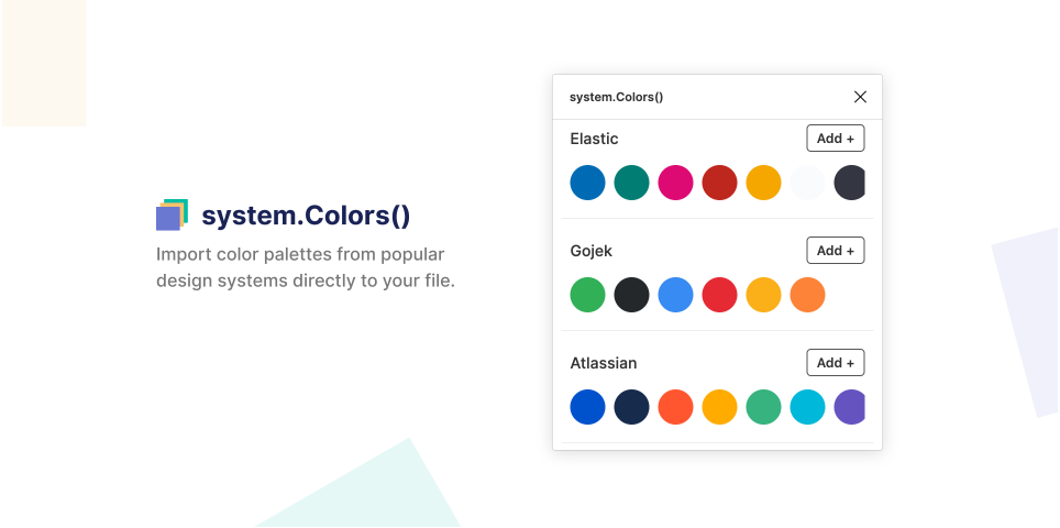Плагин system.Colors() для Figma