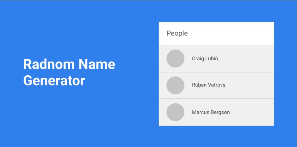 Плагин Random Name Generator для Figma
