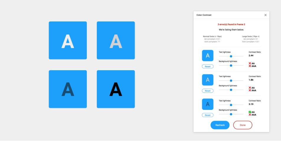 Плагин Color Contrast Checker для Figma