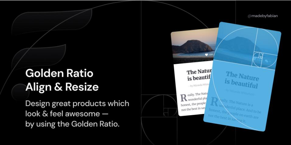 Плагин Golden Ratio Align & Resize для Figma