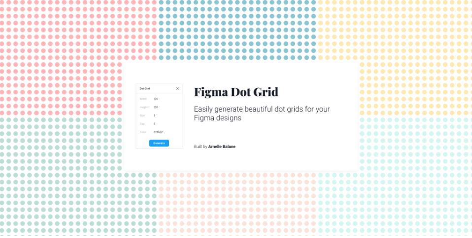 Плагин Dot Grid для Figma