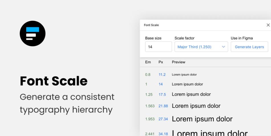 Плагин Font Scale для Figma