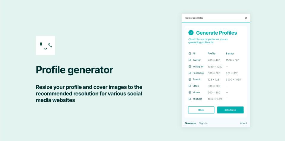 Плагин FigPug Profile Generator для Figma