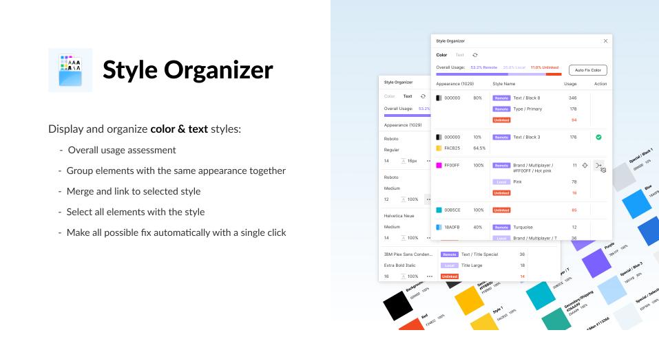 Плагин Style Organizer для Figma
