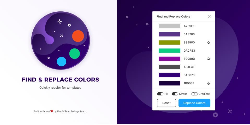 Плагин Find and Replace Colors для Figma