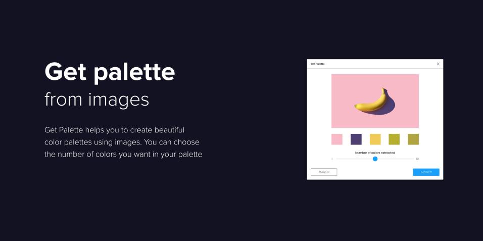 Плагин Get Palette для Figma