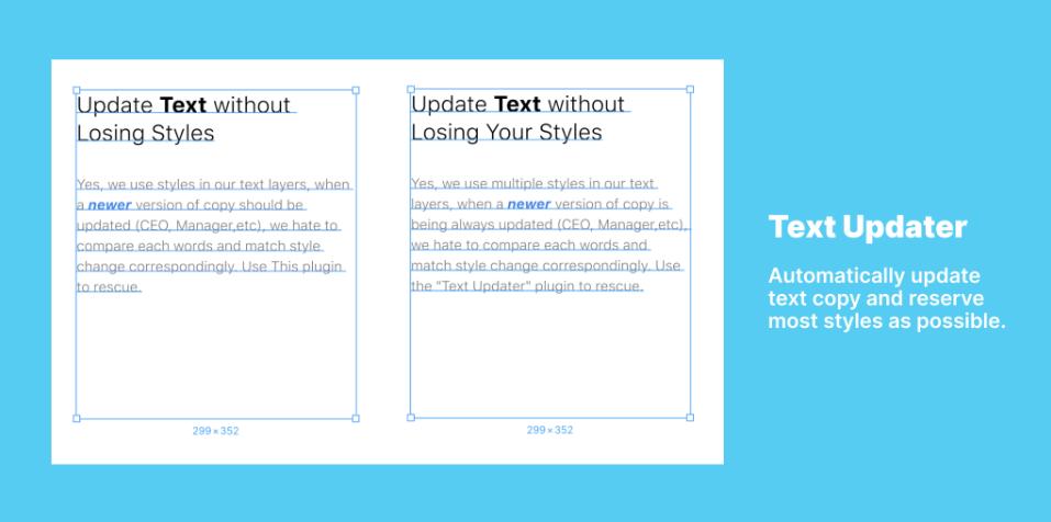 Плагин Text Updater для Figma