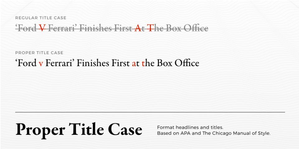Плагин Proper Title Case для Figma