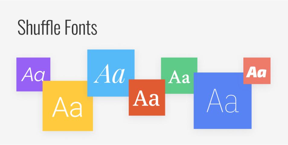 Плагин Shuffle Fonts для Figma
