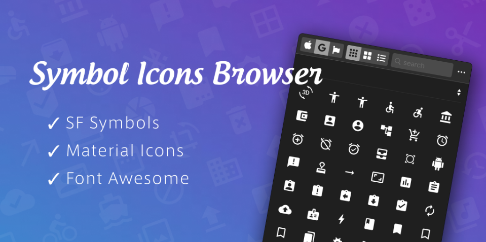 Плагин Symbol Icons Browser для Figma