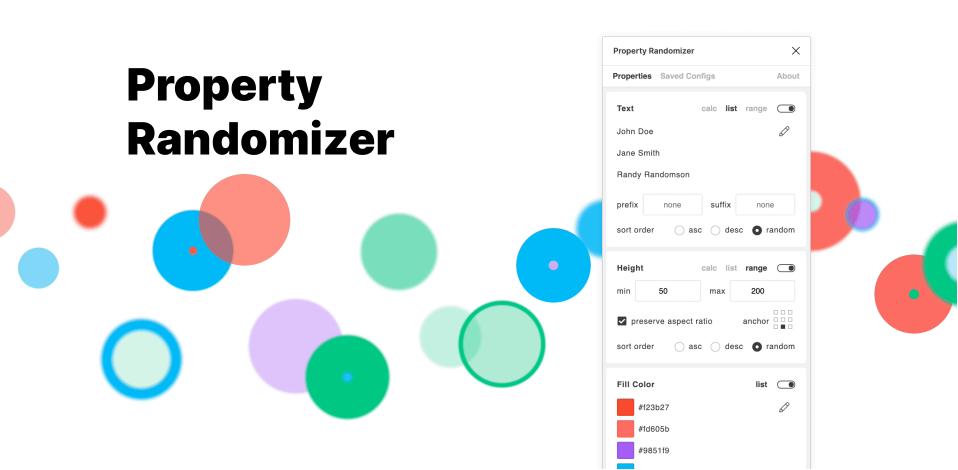 Плагин Property Randomizer для Figma