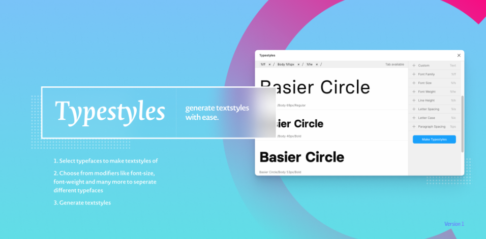 Плагин Typestyles для Figma
