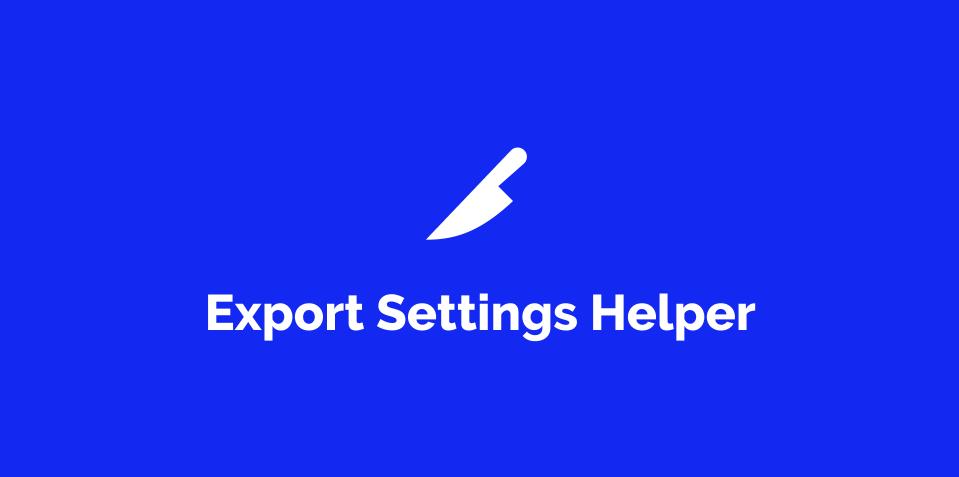 Плагин Export Settings Helper для Figma
