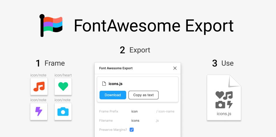 Плагин FontAwesome Export для Figma