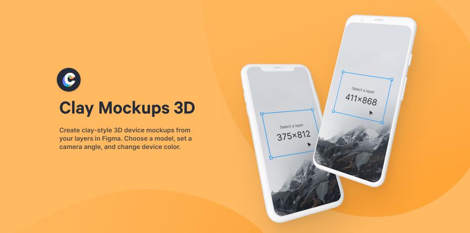 Плагин Clay Mockups 3D для Figma