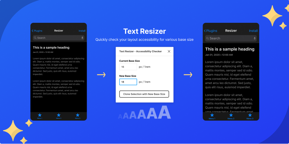 Плагин Text Resizer для Figma