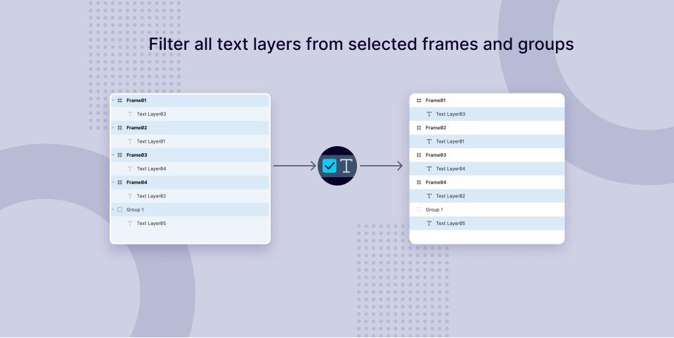 Плагин FilterTextLayers для Figma