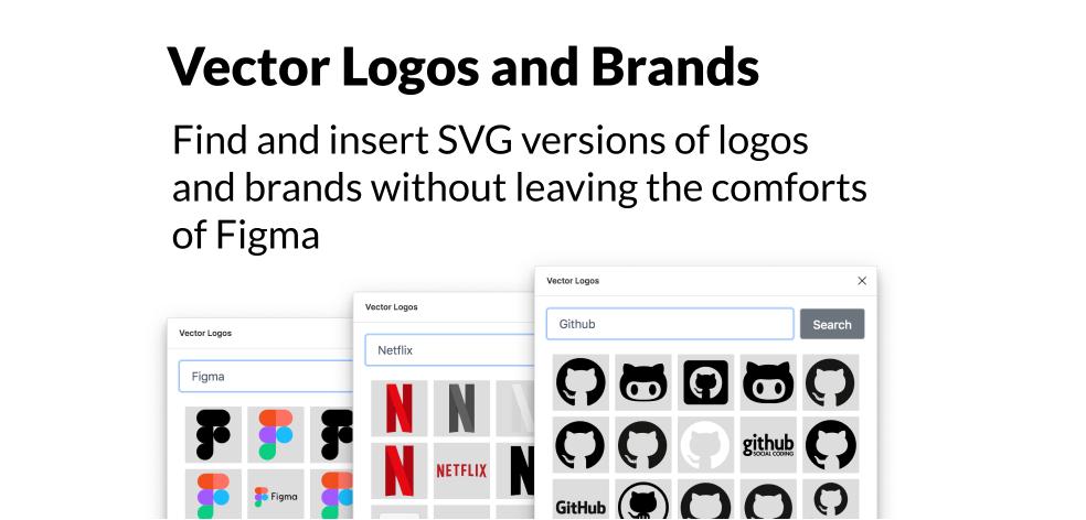 Плагин Vector Logos для Figma