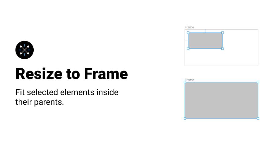 Плагин Resize to Frame для Figma
