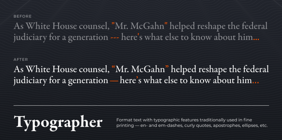 Плагин Typographer для Figma